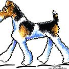 Wire Fox Terrier Trot by offleashart