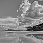 Tallows Beach Cloud Reflections - Byron Bay by Cheryl Styles