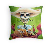 Dos Tacos Throw Pillow