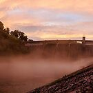 Norris Dam Red Sunset by Jimmy Phillips