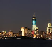 New York City/Tribute In Light; 9/10/2012 by Kevin Koepke
