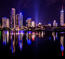 Surfers Skyline by Simon Baker