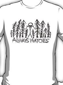 "White ""Always Watches"" Slenderman T-Shirt T-Shirt"