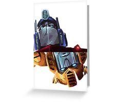 Optimus/bumblebee Greeting Card