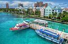 Atlantis Towers and Harbor Village in Paradise Island, Nassau, The Bahamas by 242Digital