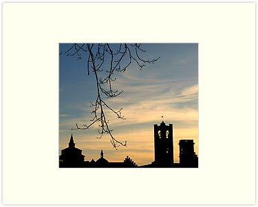 Bergamo at sunset by Federica Gentile