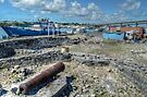 Historical Forts of Nassau: The remains of Bladen's Battery at Potter's Cay  by 242Digital