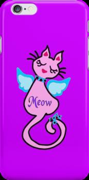 ღ°㋡Swanky-Angelic Cat Splendifereous iPhone & iPod Cases ㋡ღ° by Fantabulous