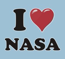 I Heart / Love NASA by HighDesign