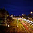 Light Trails through Canterbury by Ian Hufton