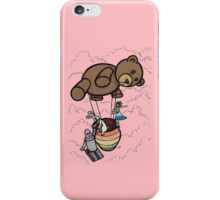 Teddy Bear And Bunny - Cotton Candy Clouds iPhone Case/Skin