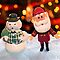 Frosty the Snowman and Santa Claus by wcsmack