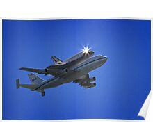 Endeavor Fly Over - Long Beach, California Poster