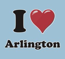 I Heart / Love Arlington by HighDesign