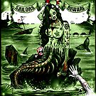 Zombie Mermaid Art Print  by ScreamingDemons