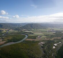 Aerial view of Daintree National Park, Queensland, Australia by Sharpeyeimages