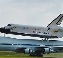 Space Shuttle Last Touchdown by Monte Roberts