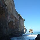 Seaside cliffs and surf by Paul Watson