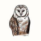 Barn Owl Digital Sketch by joelwilluk