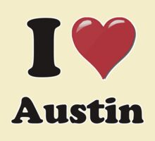 I Heart / Love Austin by HighDesign