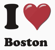 I Heart / Love Boston by HighDesign