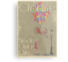 Creative Bicycle Owners Club Metal Print