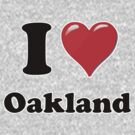 I Heart / Love Oakland by HighDesign