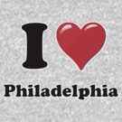 I Heart / Love Philadelphia  by HighDesign