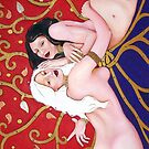 Gemini ~ Cool Original Art Work Inspired By Gustav Klimt, Brett Whitely &amp; Alphonse Mucha iphone 4 4s, iPhone 3Gs, iPod Touch 4g case. by ChrisDuffyArt