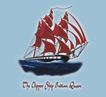The Clipper Ship Indian Queen T-shirt design by Dennis Melling