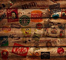 WOODEN WALL OF BRANDs by Li9z