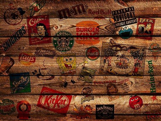 WOODEN WALL OF BRANDs by Li9z