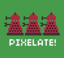 Dalek Pixel White Text by rydiachacha
