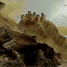 Harlech Castle, Wales by Dennis Melling