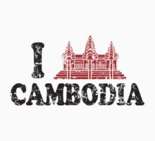 I heart Cambodia (distressed) by avdesigns
