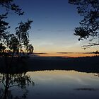 Blue Night on a Finnish Lake by seymourpics