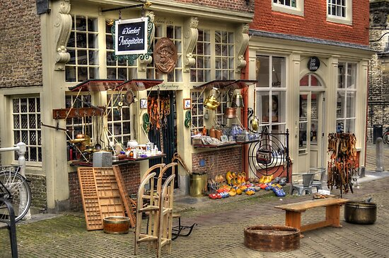 Antique market in Delft by Nicole W.
