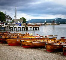 Rowing Boats Ambleside by Pauline Tims