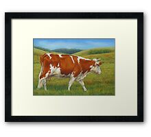 On The Moove Framed Print
