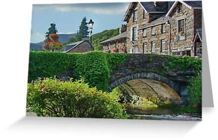 Buy e greeting cards uk - The Bridge in BeddGelert North Wales UK Greeting Cards & Postcards