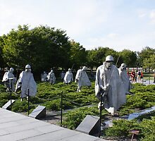 Washington DC Korean War Memorial by AnnDixon