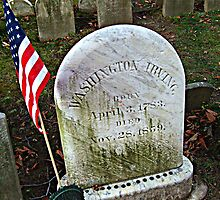 Simple Tombstone for a Great Man - Washington Irving's grave - photo 2 by Jane Neill-Hancock