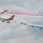 Virgin Atlantic & The Red Arrows by Pancake76