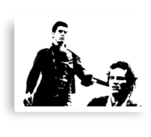 Mad Max And Johnny The Boy Canvas Print