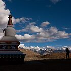 Stupa near Dankar, Indian Himalayas by espanek