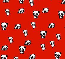 cute panda iPhone case by Zozzy-zebra