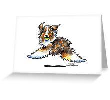 Red Merle Australian Shepherd Let's Play Greeting Card