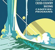 Enceladus Planetary Park Poster by Planetary Society