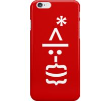 Santa with Beard Smiley Emoticon iPhone Case/Skin