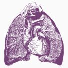 Lung Language - purple by Madison Cowles